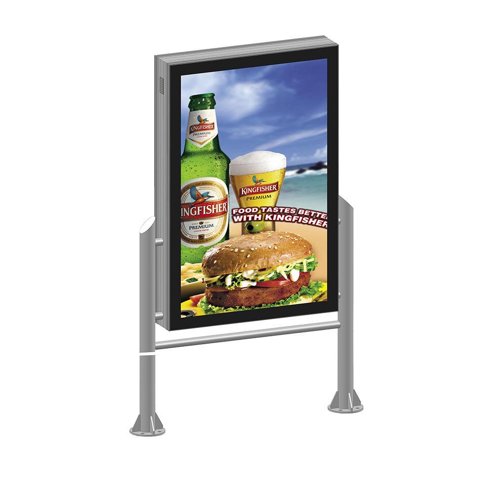 Double sided street light advertising light box signYR-LB-0009