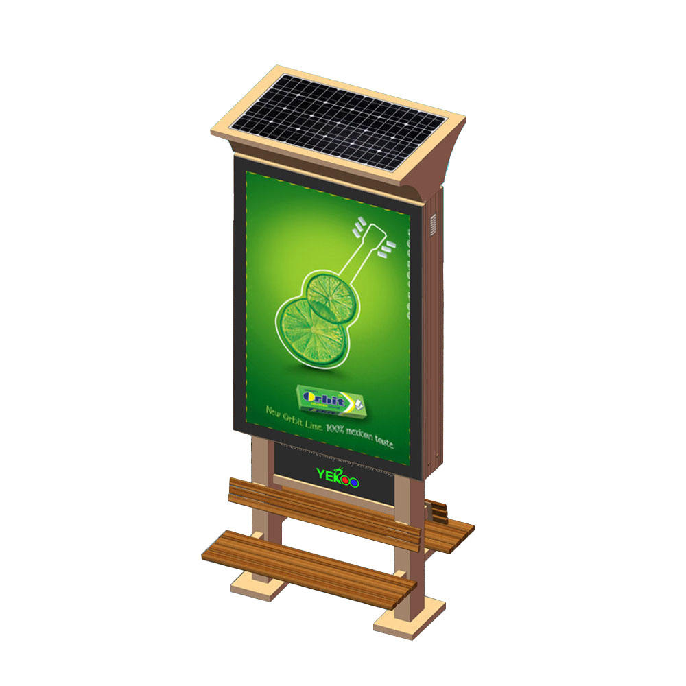 Double sided solar power light box with chair YR-SLB-0004