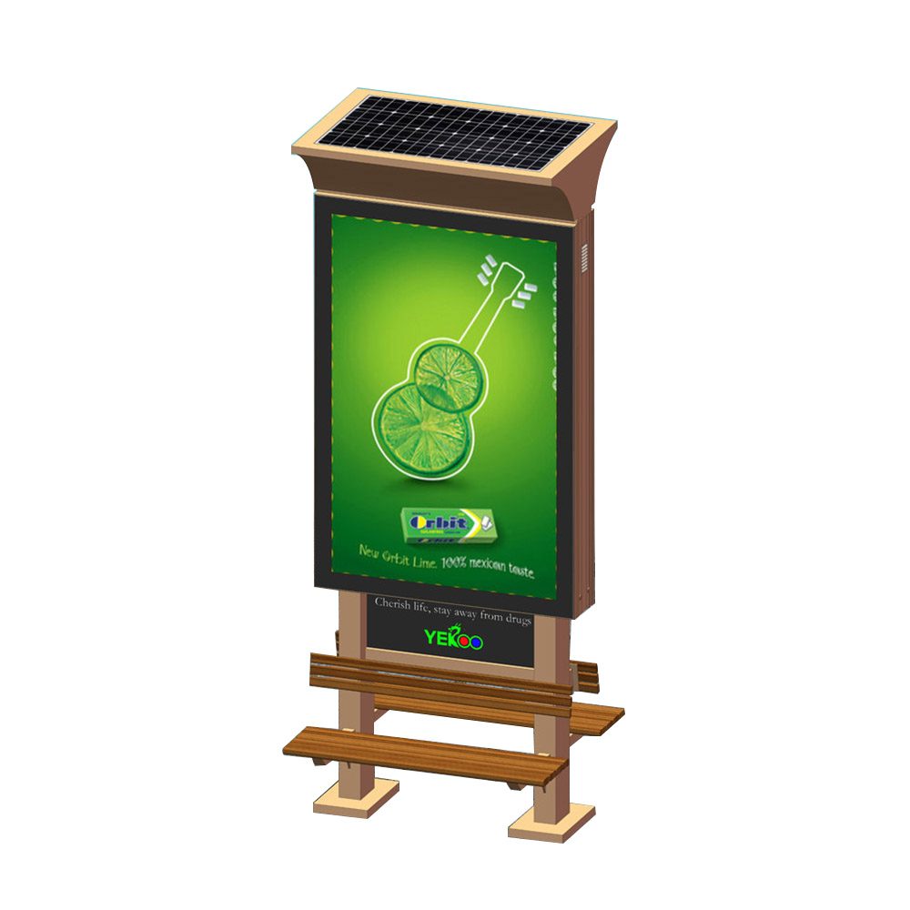 YEROO-Double sided solar power light box with chair YR-SLB-0004-1