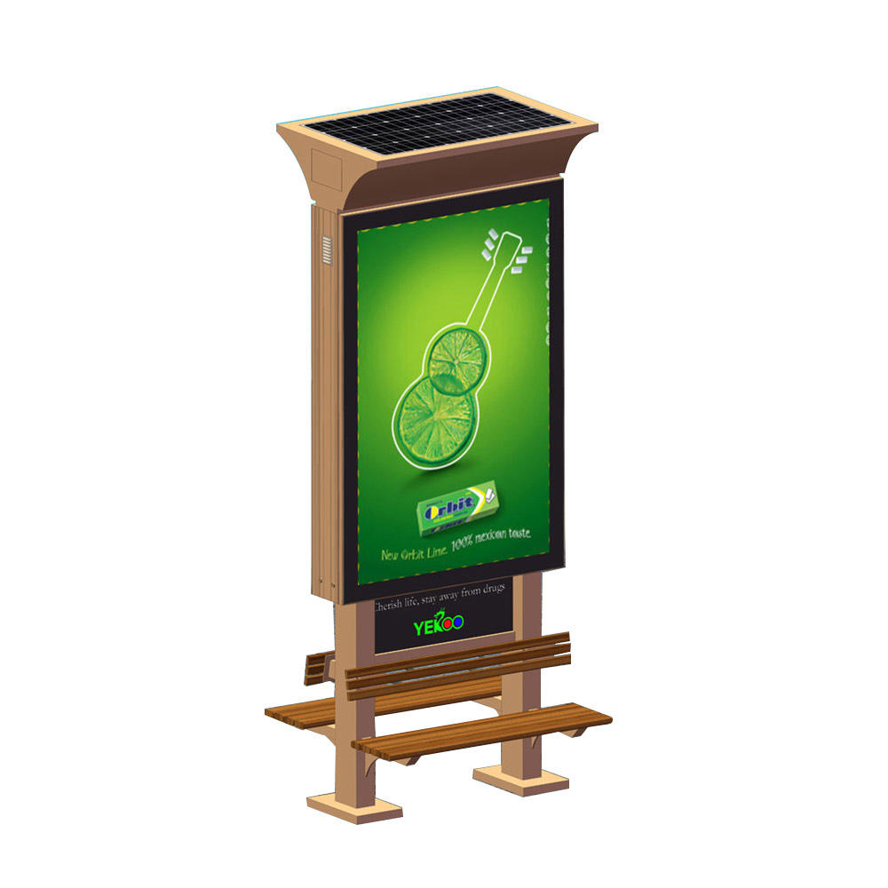 YR-SLB-0004 Double sided solar power light box with chair