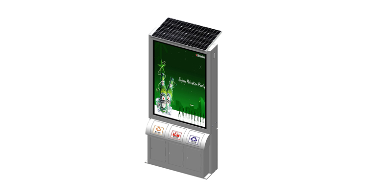 YEROO-Manufacturer Of Outdoor Light Box Double Sided Stainless Steel Solar Trash