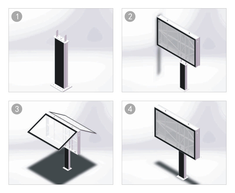 YEROO scrolling poster stand for advertising-21