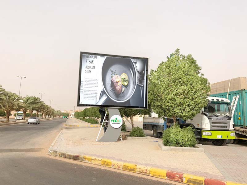 YEROO round shaped scrolling poster solar outdoor marketing-30