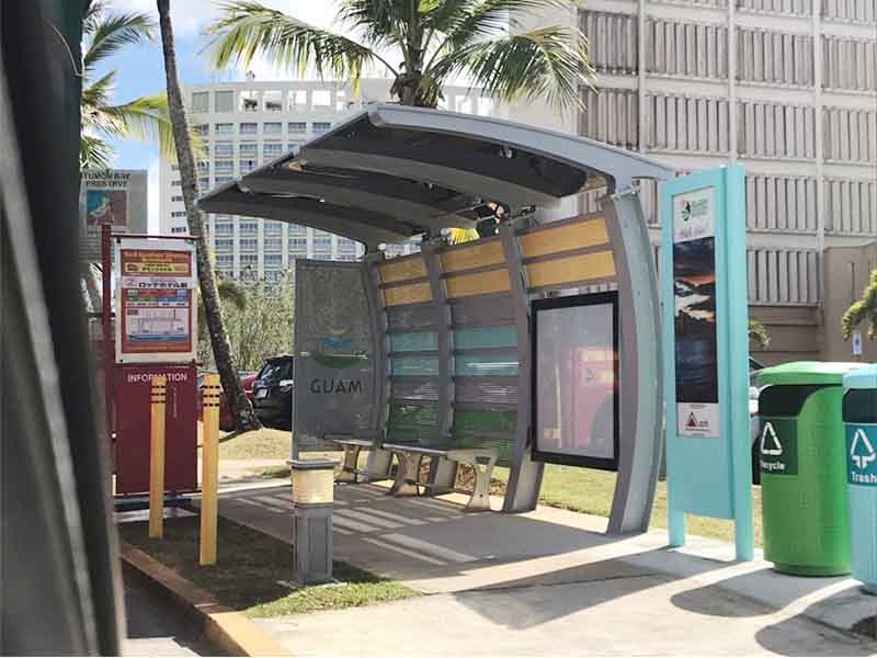 YEROO-Best Solar Bus Shelter Outdoor Advertising Metal Solar Power Bus Stop Shelter-24