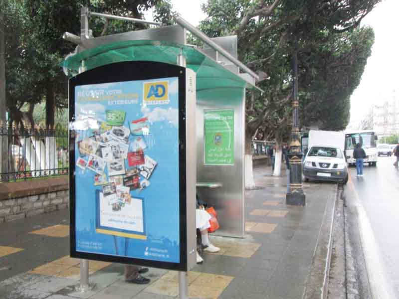 bin bus shelter advertising outdoor advertising for bus stop YEROO-24