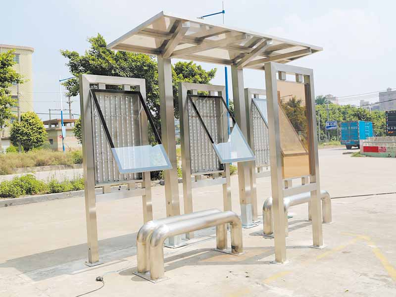 YEROO-Find Solar Bus Shelter Outdoor Public Furniture Solar Bus Stop | Manufacture-27