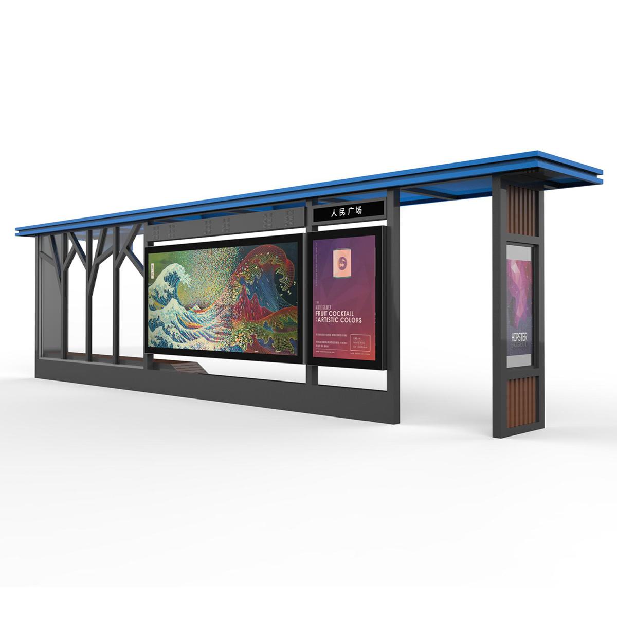 YEROO-bus shelter ad | Smart bus shelter | YEROO-1