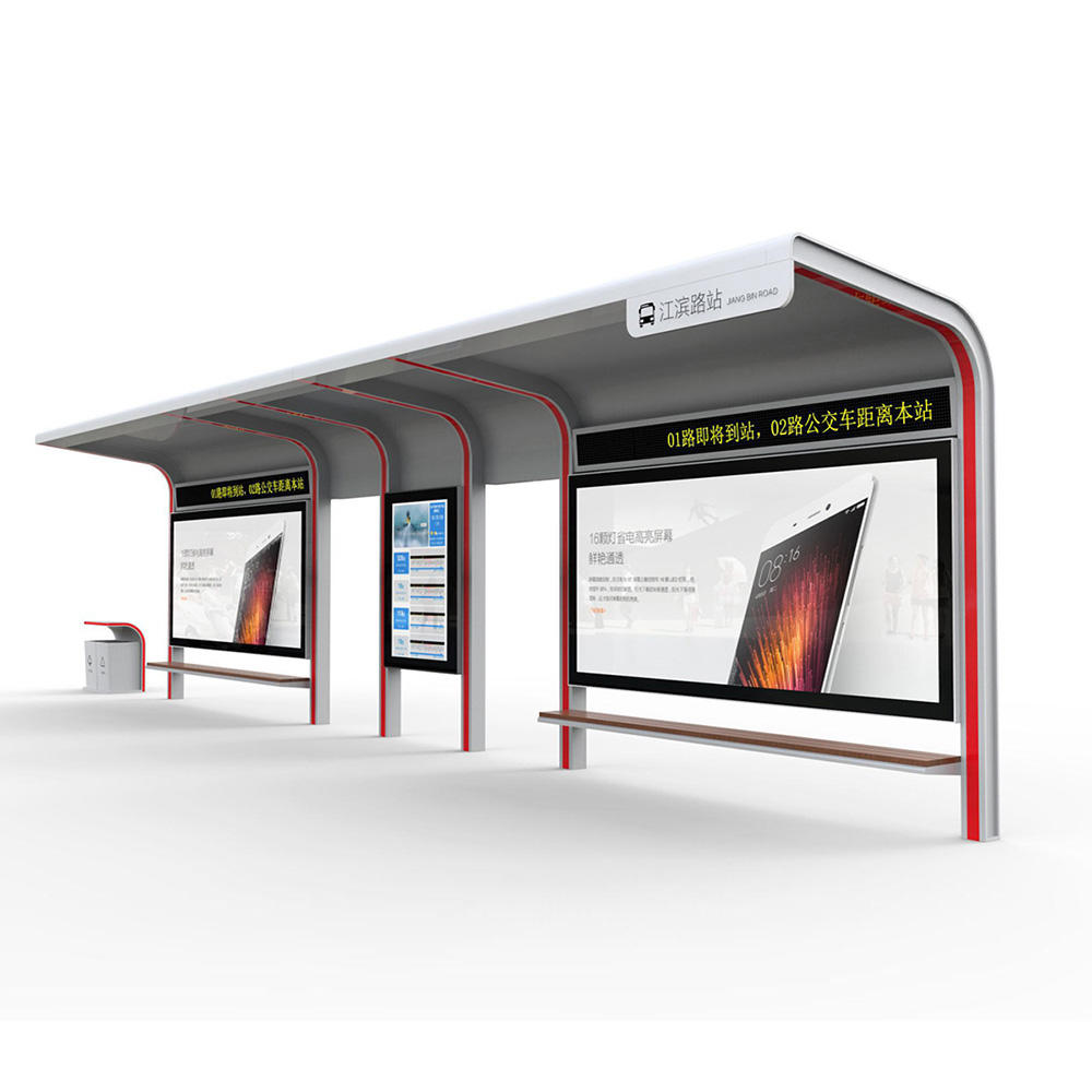 YR-BS-0011 Smart Bus Stop Digital Signage Forecasting Information with Bus Stop