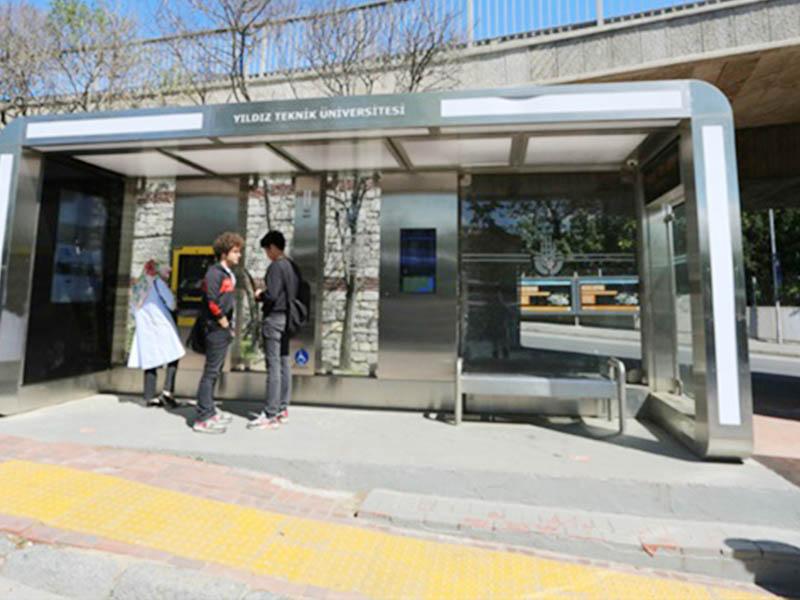 YEROO light city bus shelter kiosk display for suburb-23