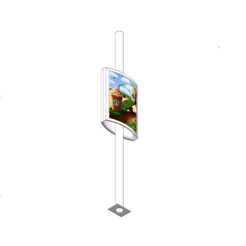 Outdoor light pole display advertising double sided Lightpost