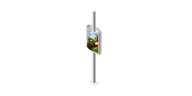 YEROO-Find Pole Led Display Outdoor Light Pole Display From Yeroo Bus Shelter