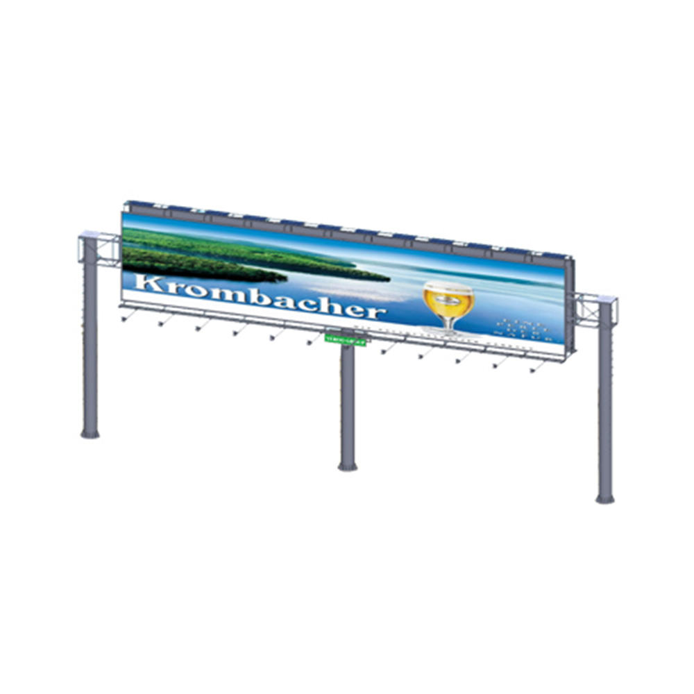 YEROO-B-013 steel structure outdoor billboard double side gantry billboard
