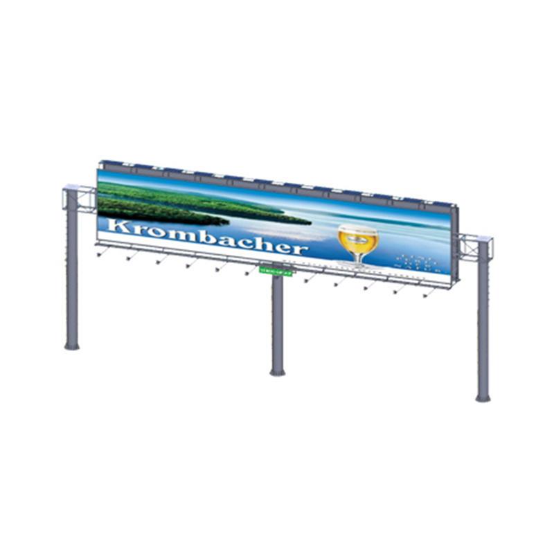 2019 steel structure outdoor billboard double side gantry billboard