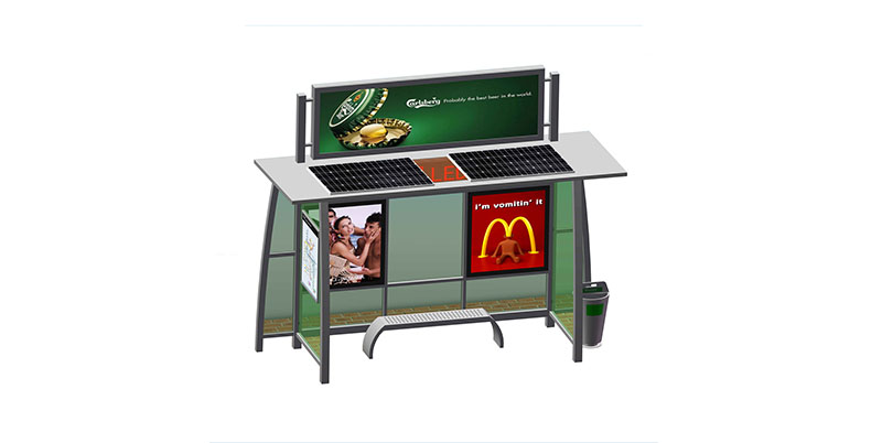 YEROO-Find Solar Bus Shelter Outdoor Public Furniture Solar Bus Stop | Manufacture