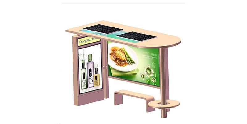powered bus shelter advertising vending public furniture YEROO