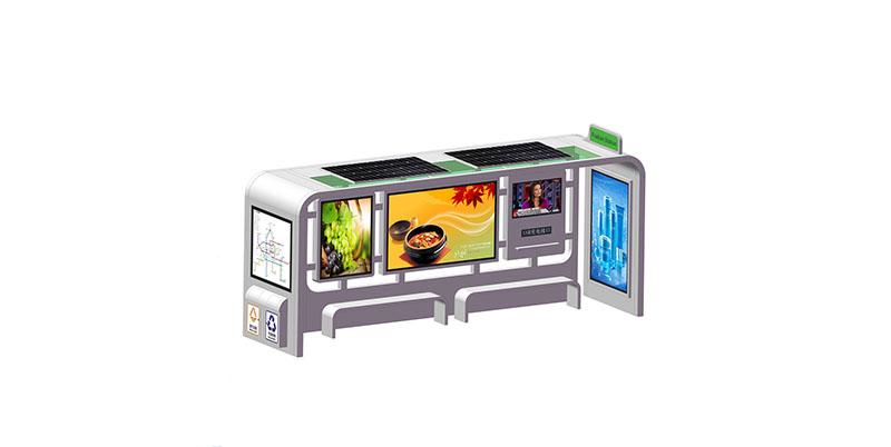 YEROO-Professional Solar Powered Bus Shelter Bus Stop Shelter Advertising