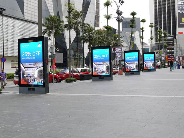 Outdoor double sided led screen display digital light box YR-DLB-0001-23