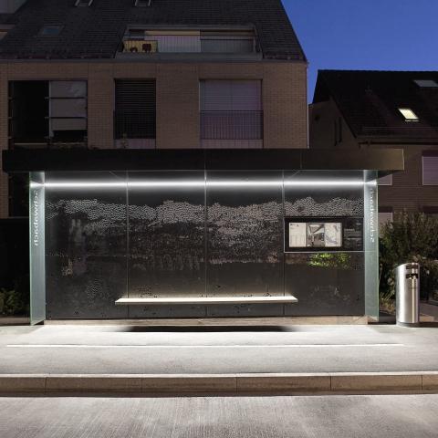 YEROO-Best Smart Bus Stop Outdoor Advertising Street Furniture Metal Bus Stop