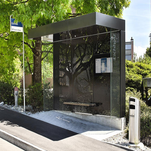 Outdoor advertising street furniture metal bus stop shelter