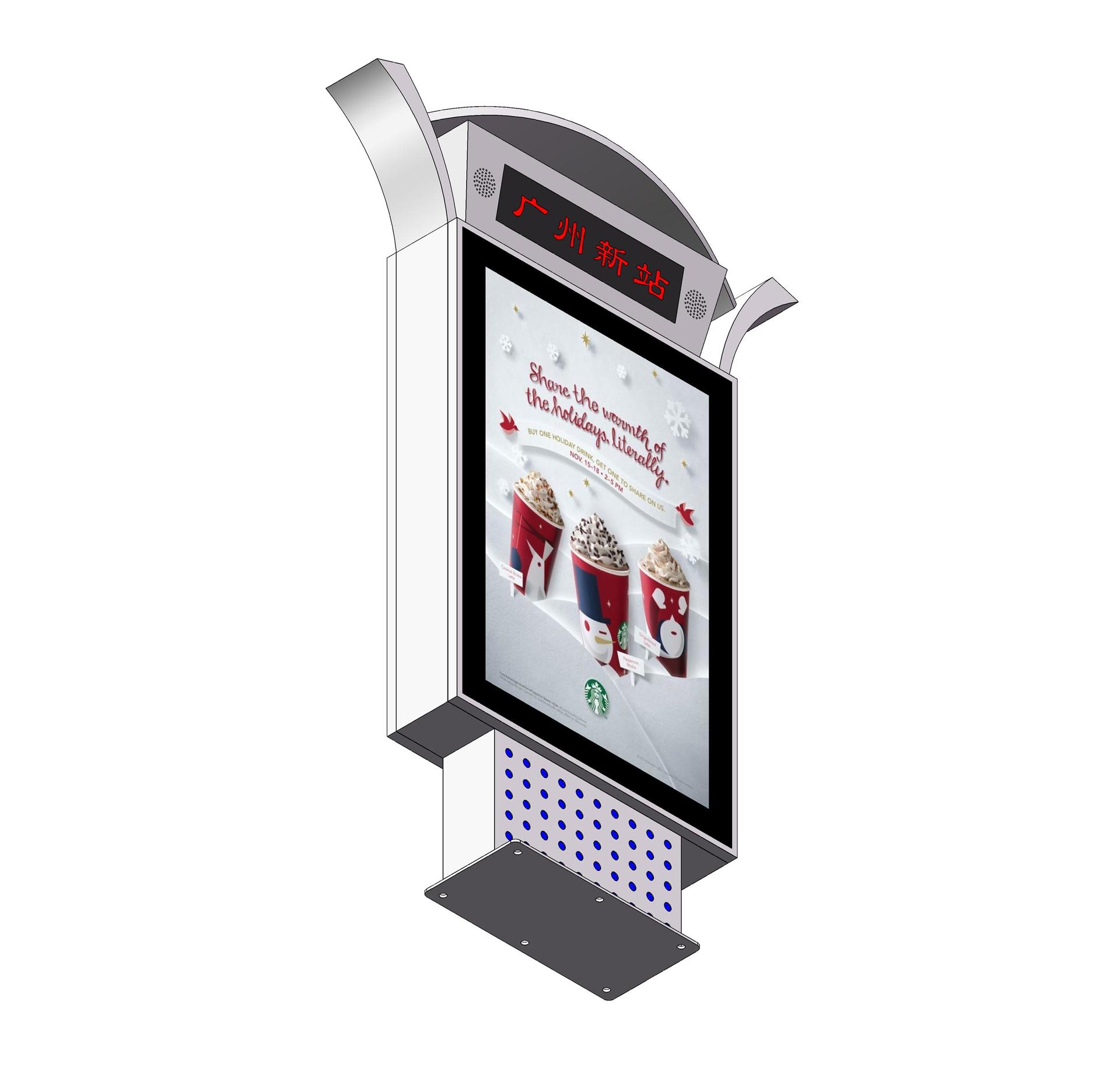 YR-DLB-0003 Railway station advertising digital sign led mupi