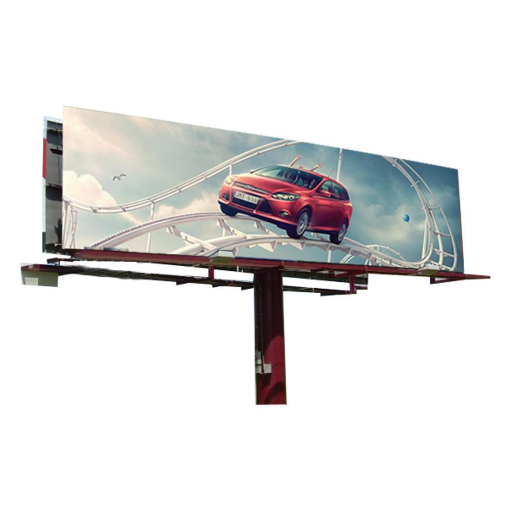 2019 steel structure outdoor billboard double side V shaped billboard