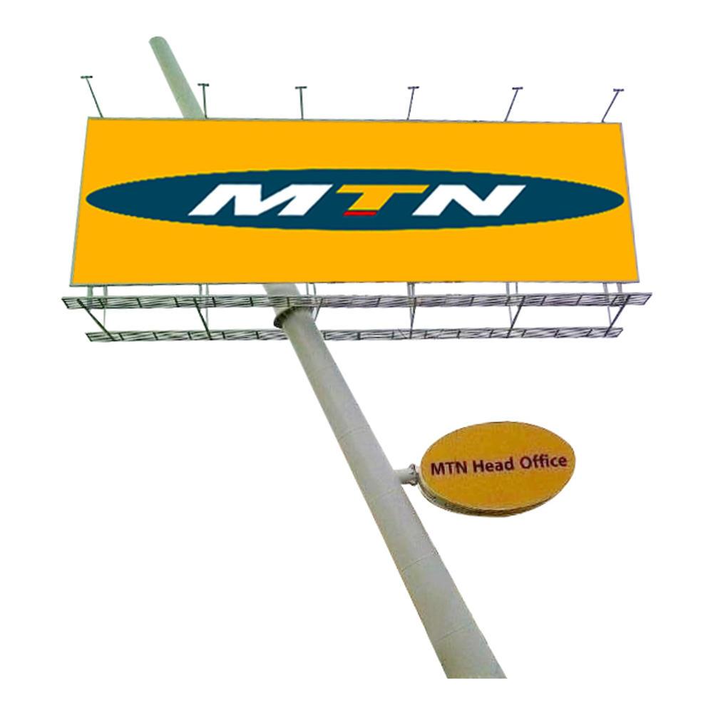 YEROO-B-007 rustproof unipole outdoor billboard steel metal structure design