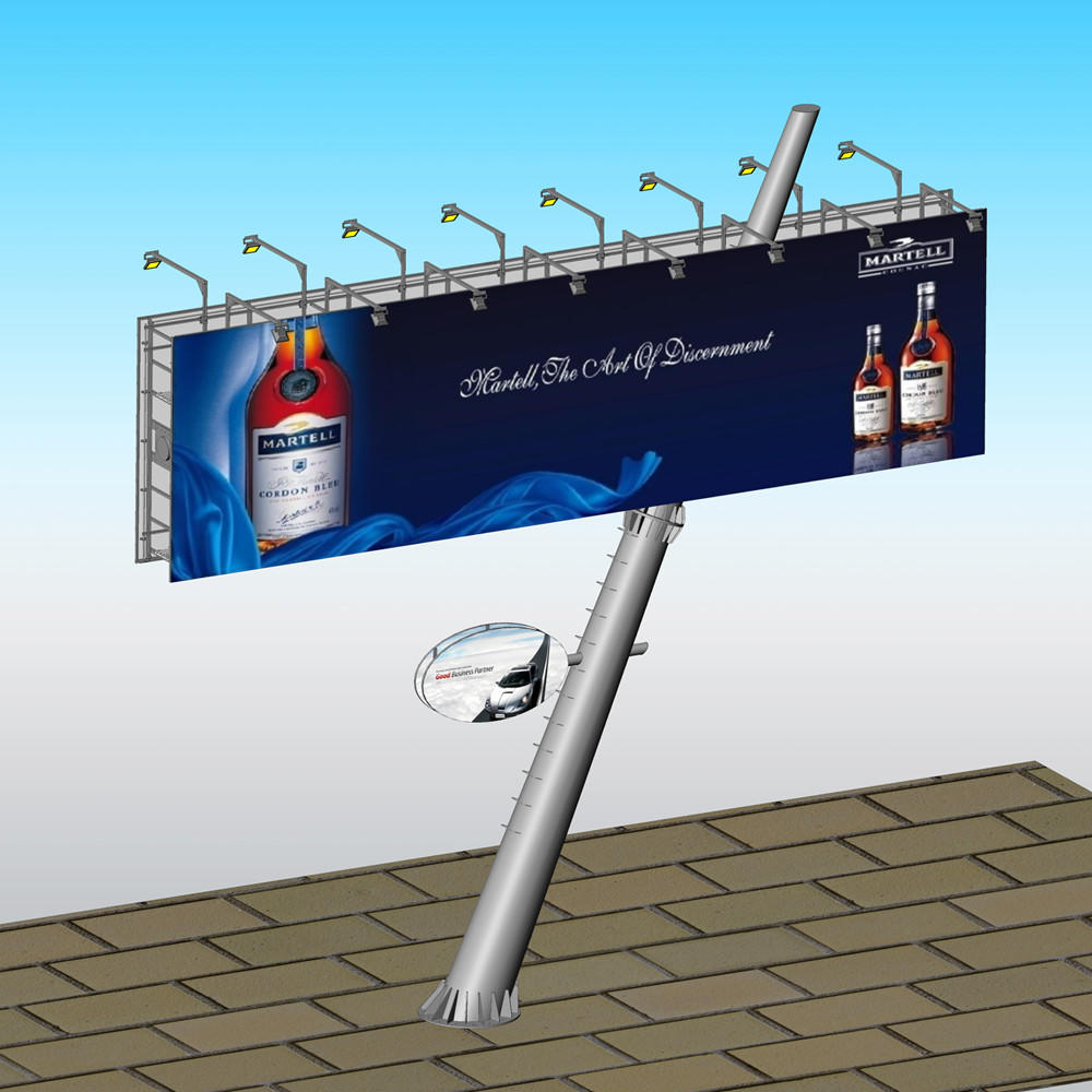YEROO double side solar powered billboard lights fro market