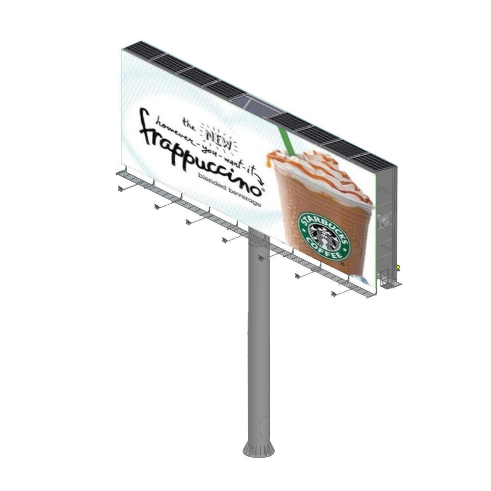 Highway large size solar energy outdoor advertising billboard
