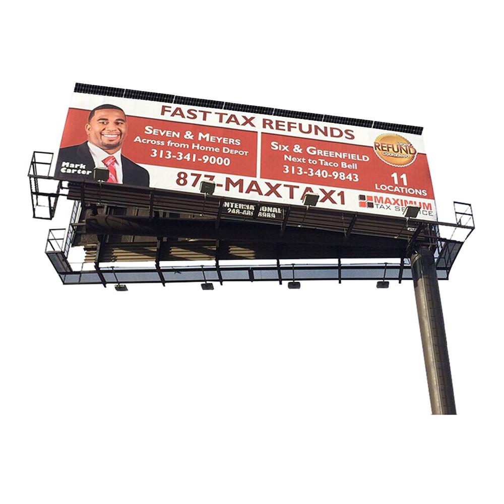 YEROO-2019 steel structure outdoor billboard double side cantilever billboard-2