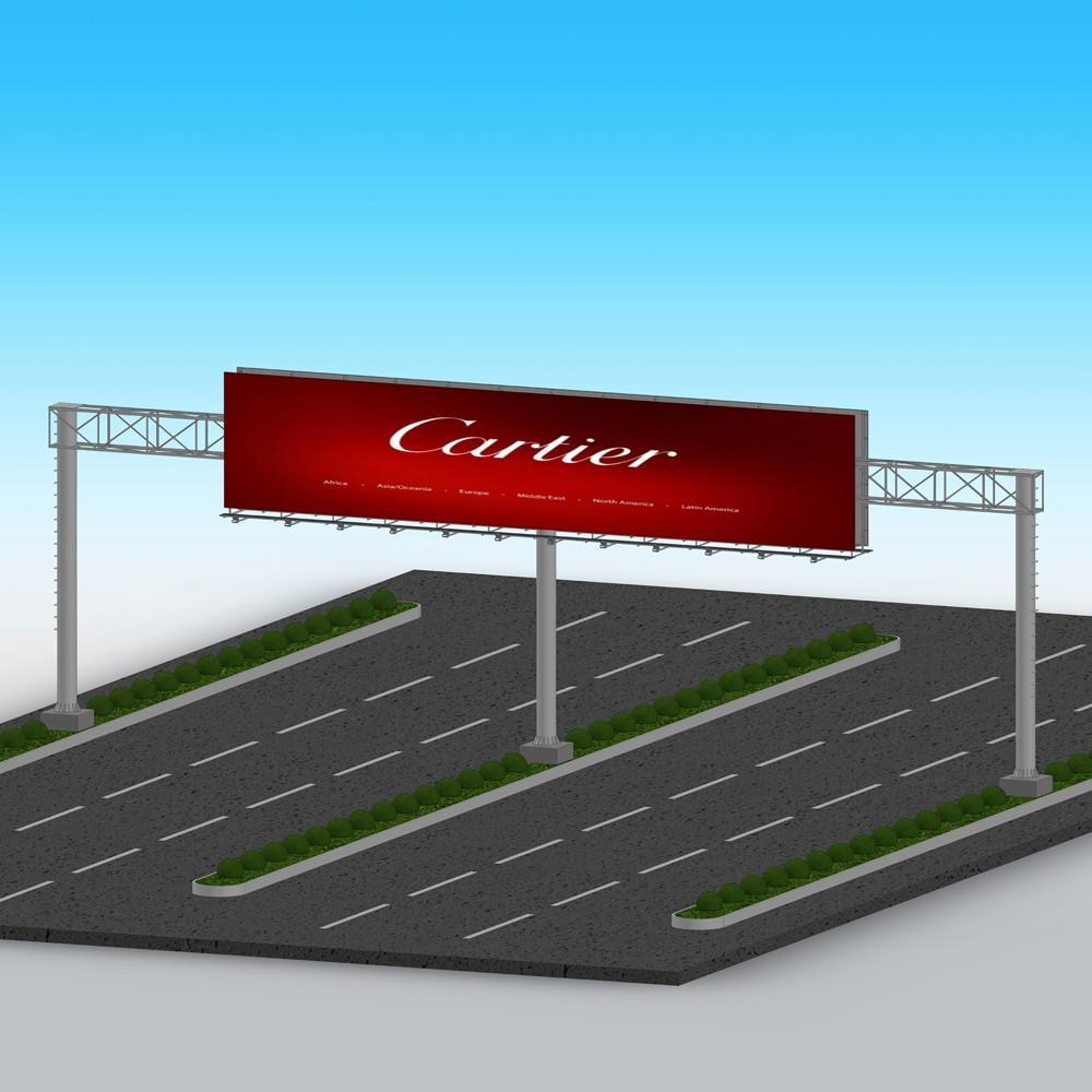 YEROO front light billboard stand customization service for super mall