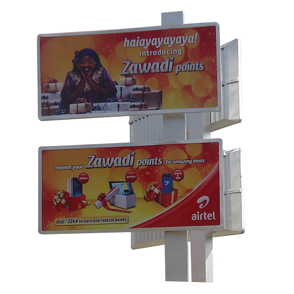 YEROO-Double Decker Advertising Steel Structure Highway LED Backlit Billboard