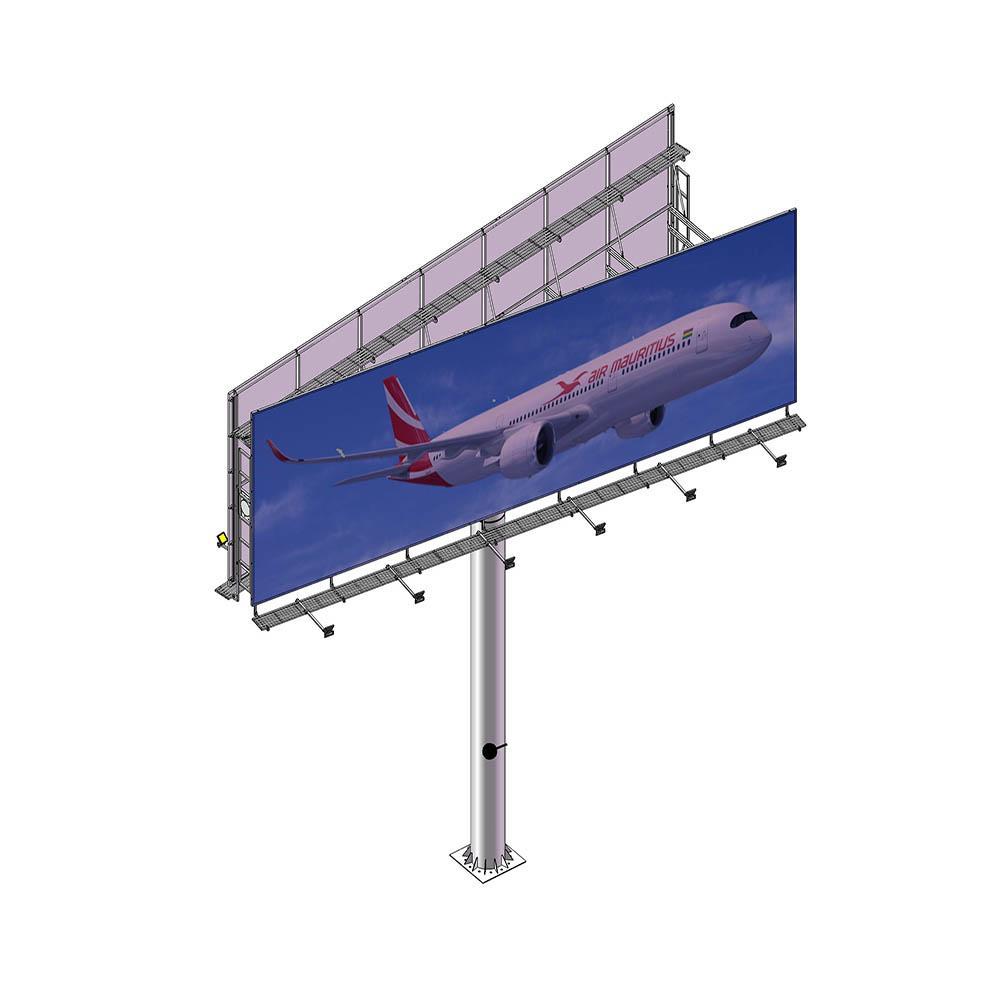 YEROO-Outdoor advertising aillboard manufacture V shaped backlit billboard-1