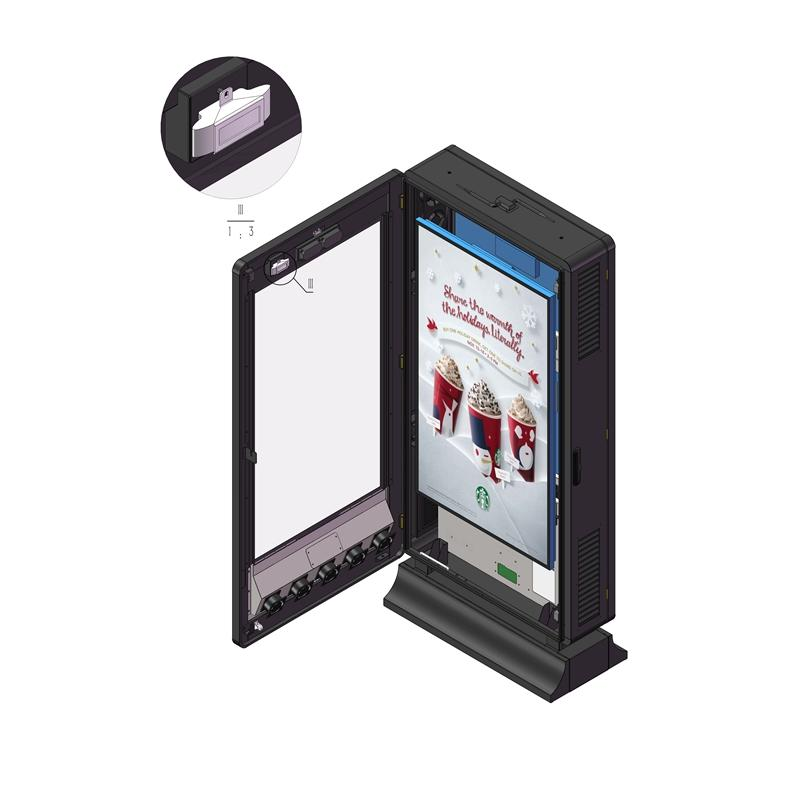55inch outdoor lcd kiosk digital signage