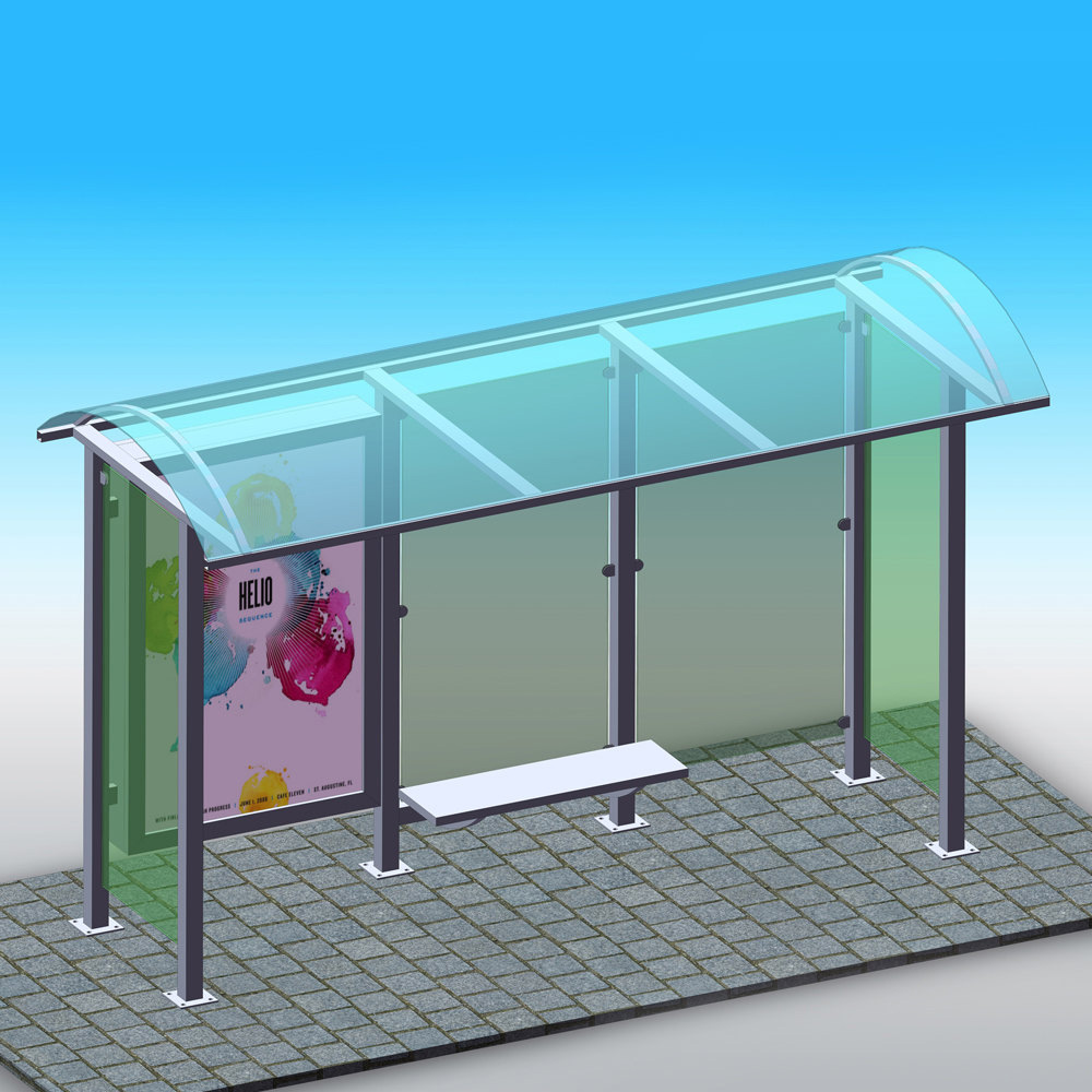 YEROO-Outdoor advertising bus stop shelter manufacturer