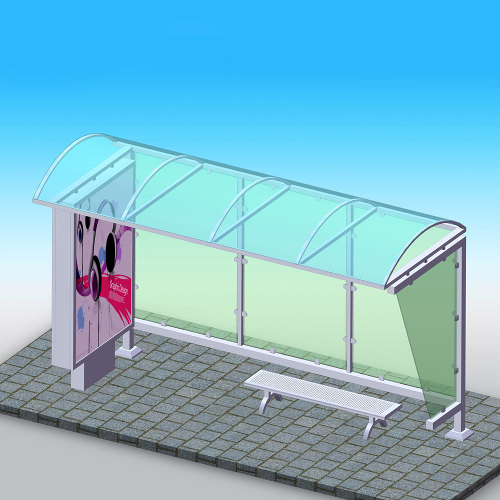 YEROO-Bus Stop Shelter Design Outdoor Advertising Bus Stop Shelter Manufacturer