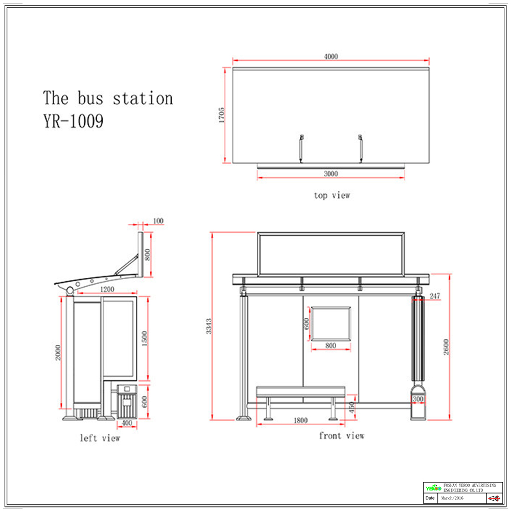 YEROO-metal bus stop shelter | Simple bus shelter | YEROO-1