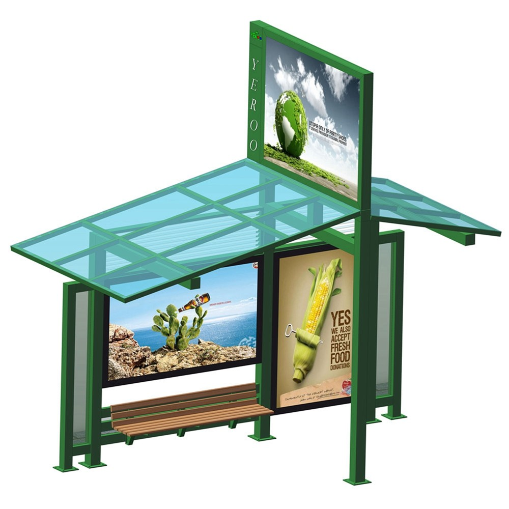 YEROO-Professional Bus Stop Advertising Bus Stop Shelter Advertising Supplier