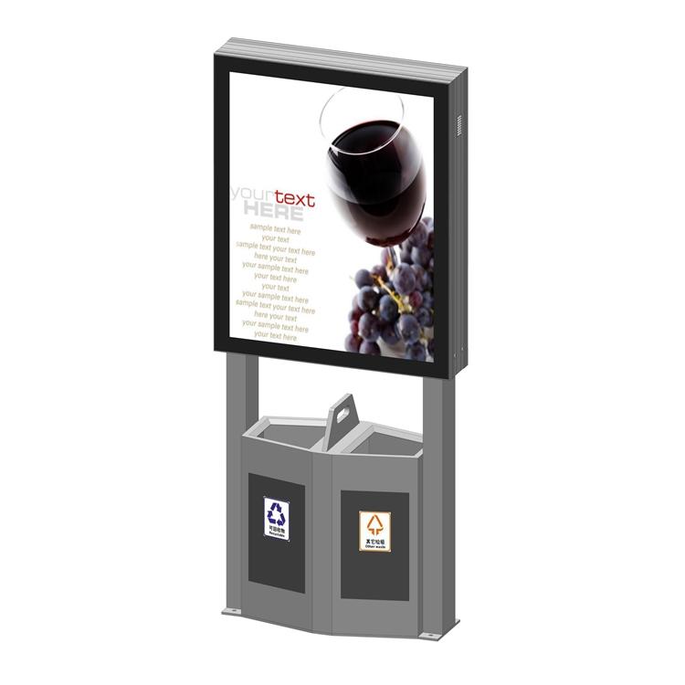 YEROO-Outdoor trash can light box as an advertising media advantage