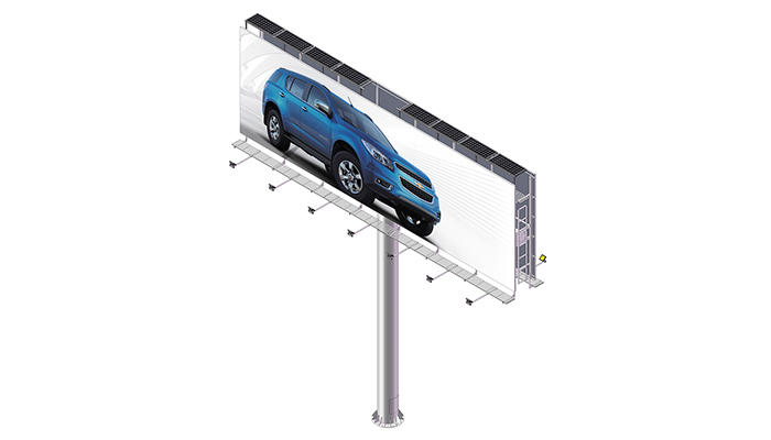 Highway large size solar energy outdoor advertising billboard-1