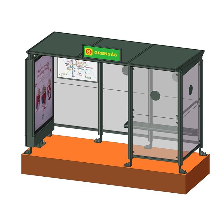 YR-BS-0031 Smart air-conditioned bus shelter