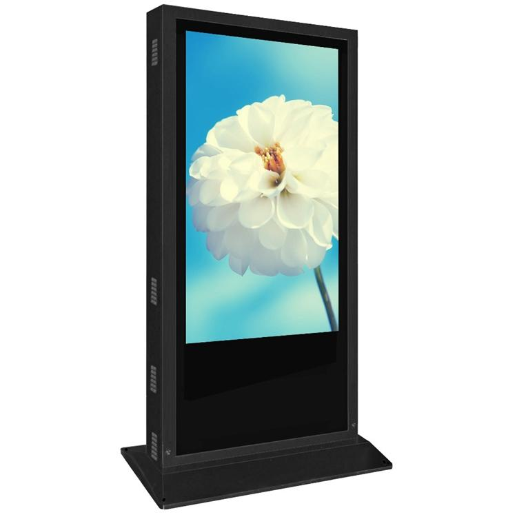 65 inch  outdoor floor stand single side no touch LCD kiosk