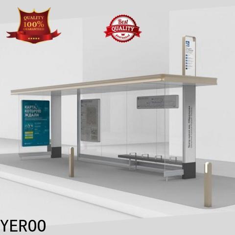 YEROO stainless steel smart bus shelter