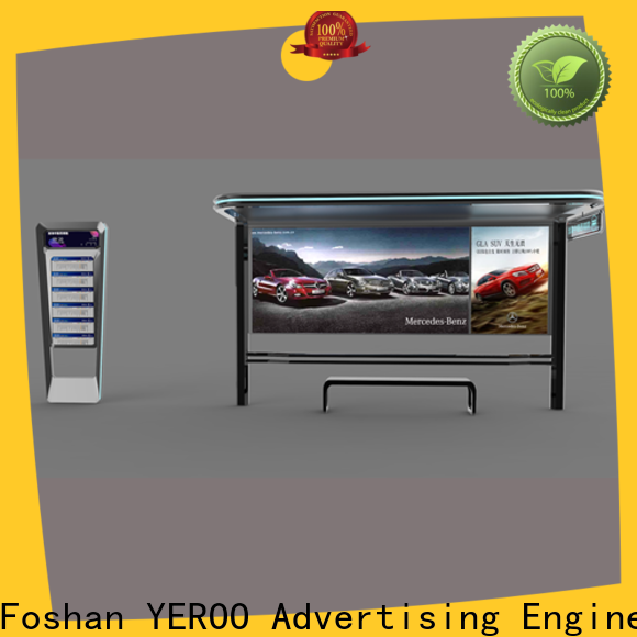 YEROO stainless steel bus shelter ad at discount