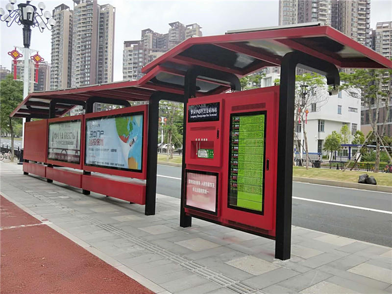 Smart bus shelters are used in life to improve the quality of public transportation