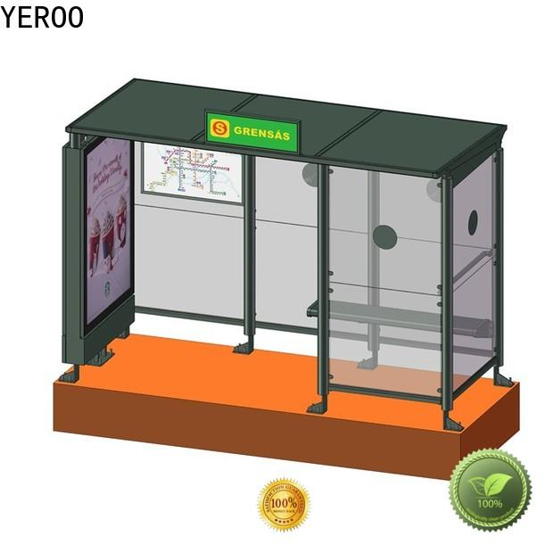 YEROO stainless steel bus shelter ad at discount for outdoor