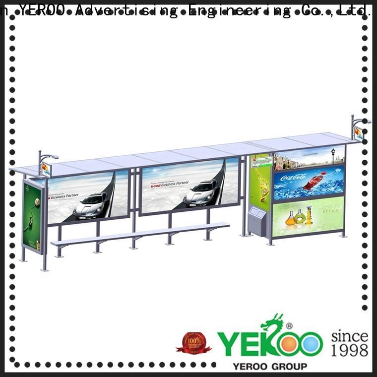 YEROO bus stop shelter design customization service for suburb