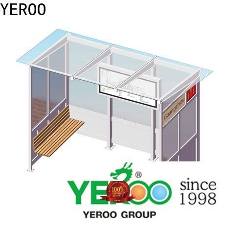 YEROO environmentally friendly bus stop shelter top brand for outdoor advertising