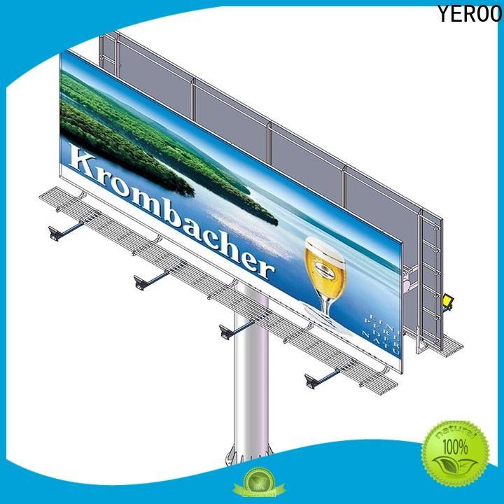steel structure solar powered billboard manufacturer for highway