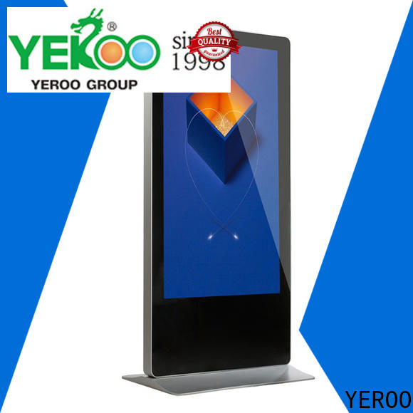 YEROO interactive digital signage totem competitive price for advertising
