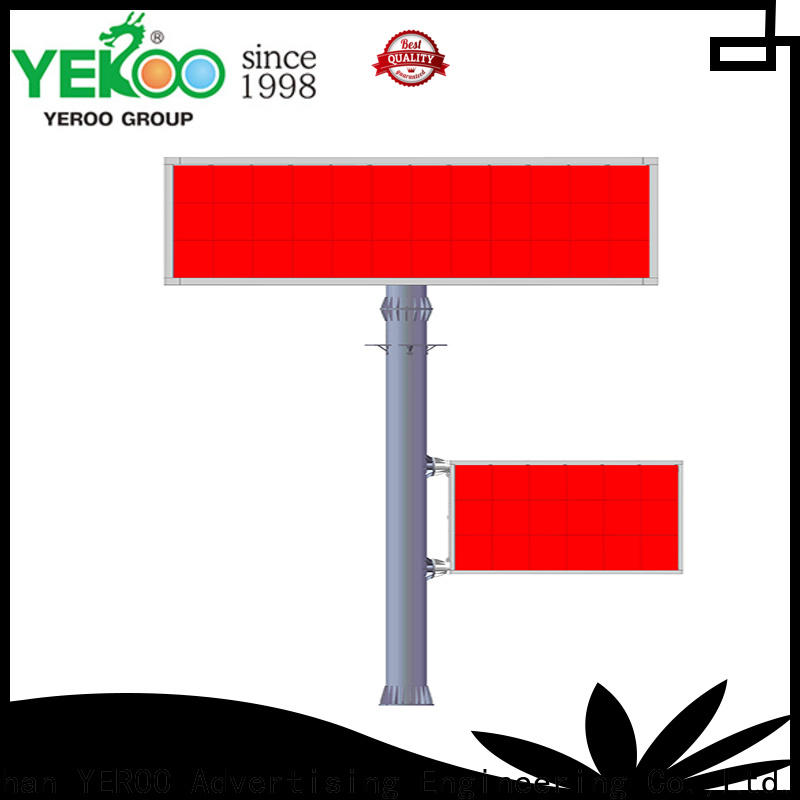 YEROO durably electronic billboard stainless steel outdoor ads